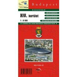 Budapest XIV. kerület térkép Topopress 1:8 000