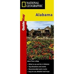 Alabama térkép National Geographic