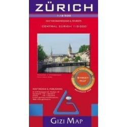 Zürich térkép Gizi Map 1:12 500