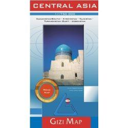 Közép-Ázsia autós térkép  Central Asia Gizi Map 1:1 750 000  2010