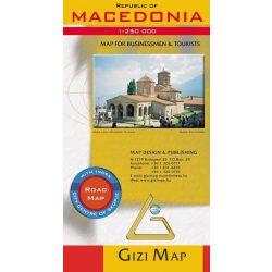 Macedonia térkép Gizi Map  1:250 000