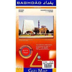 Bagdad térkép Gizi Map 1:25 000, 1:9000