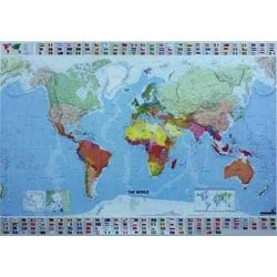 A Világ országai keretezett falitérkép Michelin 144x100