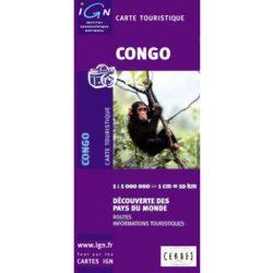 Kongó térkép I.G.N. 1: 1 000 000