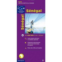 Senegal térkép IGN   1:1 000 000