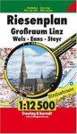 Linz atlasz, Linz és környéke, Wels, Enns, Seyr atlasz Freytag & Berndt 1:12 500