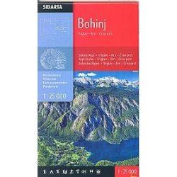 Bohinji turista térkép Sidarta 1:25 000 Bohinj térkép