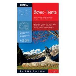 Bovec turista térkép Sidarta 1:25 000 Bovec térkép – Trenta turista térkép