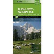 Alpski svet - vzhodni del, Alpok keleti része térkép Kartografija 1:75 000