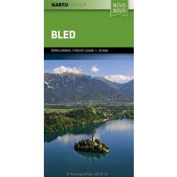 Bled turista térkép Kartografija Novo 2013 1:25 000 Bled térkép