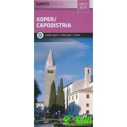 Koper térkép/Capodistria turista térkép Planinska zveza Kod and Kam 1:10 000