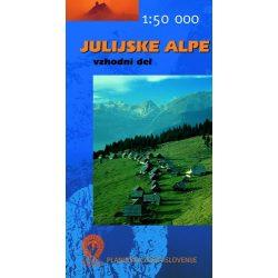 Júliai Alpok turista térkép Planinska Zveza Slovenije 1:50 000
