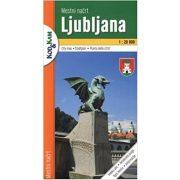 Ljubjana és környéke turista térkép Planinska zveza Kod and Kam 1:50 000