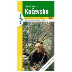 Kocevsko turista térkép Planinska zveza Kod and Kam 1:50 000