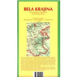Bela krajina turista térkép Planinska zveza Kod and Kam 1:50 000