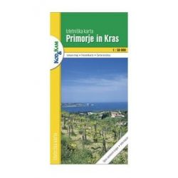 Primorje in Kras turista térkép Planinska zveza Kod and Kam 1:50 000