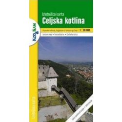 Celjska kotlina turista térkép Planinska zveza Kod and Kam 1:50 000