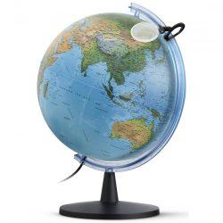 Világító földgömb 40 cm, duó, kétfunkciós, világítós földgömb nagyítóval.