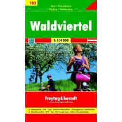 RK 102 Waldviertel kerékpáros térkép Freytag & Berndt 1:100 000