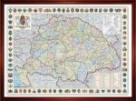 A Magyar Szent Korona Országainak Közigazgatása keretes falitérkép Nyír-Karta  125x85 cm