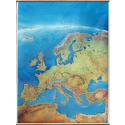 Európa satelit falitérkép fémléccel 100 x 152 cm
