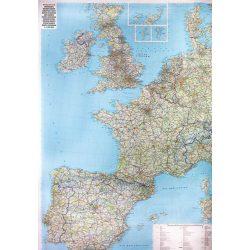 Nyugat-Európa falitérkép Freytag 1:2 000 000