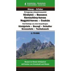 Királykő turista térkép, Öt hegység a Kárpát-kanyarból, Dimap Bt. 2015 1:70 000