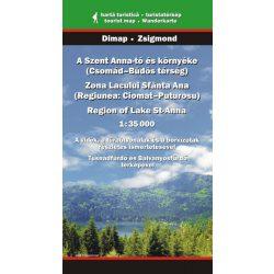 Szent Anna-tó és környéke térkép Dimap Bt. 2013 1:35 000