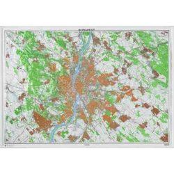 Budapest dombortérkép Magyar Honvédség 1:50 000 115x80 cm