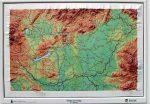 Magyarország dombortérkép Magyar Honvédség 1: 1 000 000 64x47 cm