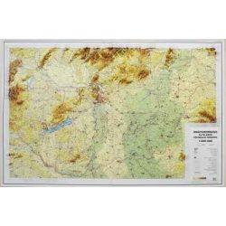 Magyarország domborzata dombortérkép Magyar Honvédség 1: 500 000 116x80 cm