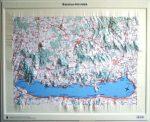 Balaton felvidék dombortérkép Magyar Honvédség 68x55 cm