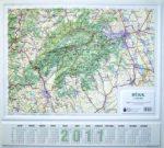 Bükk dombortérkép Magyar Honvédség 1:100 000 63x57 cm