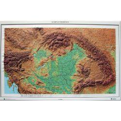 Kárpát-medence dombortérkép Magyar Honvédség 1: 1 000 000  118x79 cm