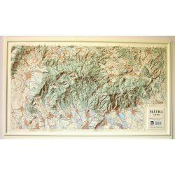 Mátra dombortérkép Magyar Honvédség 1:65 000 78x46 cm