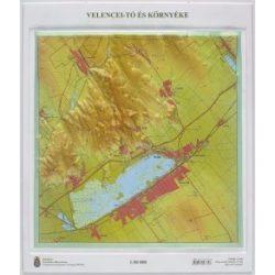 Velencei tó dombortérkép Magyar Honvédség 1:50 000 43x50 cm