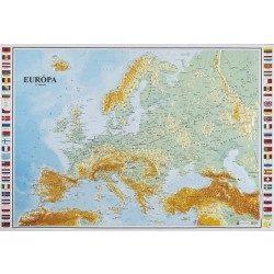 Európa dombortérkép Magyar Honvédség 1:12 500 000 54x59 cm