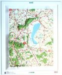 Fertő dombortérkép HM 1:150 000 56x68 cm