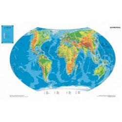 A Világ hegy-vízrajza dombortérkép Stiefel  98x 68 cm