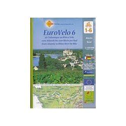Loire Radweg kerékpáros térkép Huber 1:100 000 EuroVelo 6 Loire völgye kerékpáros térkép  2017