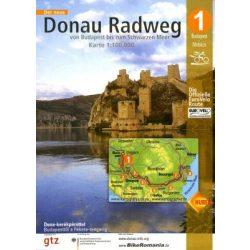 Duna kerékpáros térkép Huber 1:100 000 EuroVelo 6