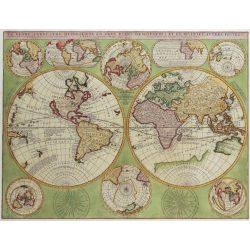A Föld országai falitérkép, antik világtérkép könyöklő 65x45 cm