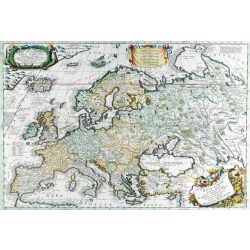 Antik Európa térkép könyöklő 65x45 cm