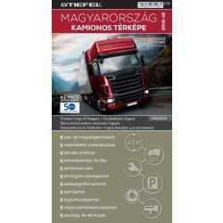 Magyarország kamionos térképe Stiefel 2015-16  1:600 000