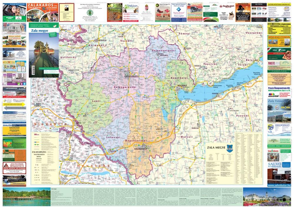 zala megye térkép Zala megye térkép Stiefel 1:140 000   Térkép Center Kft. Budai  zala megye térkép