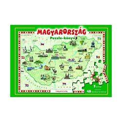 Magyarország puzzle-könyv Manó Könyvek Kiadó 2016