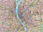 Budapest falitérkép íves , hengerben, 1:27 000, (137 x 98 cm)  Freytag térkép PL 23 PL