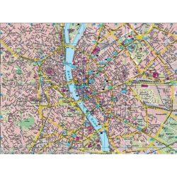 Budapest falitérkép íves , hengerben, 1:27 000, 137 x 98 cm  Freytag térkép PL 23 PL