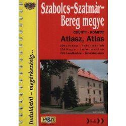 Szabolcs-Szatmár-Bereg megye atlasz HiSzi Map