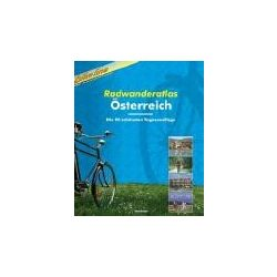 Ausztria kerékpáros atlasz Esterbauer 27x30 cm